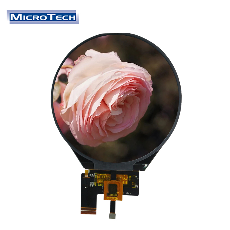 ILI9881C 3.4 Inch Circular Screen with 39 pin 800x800 Resolution Round LCD Touch Display