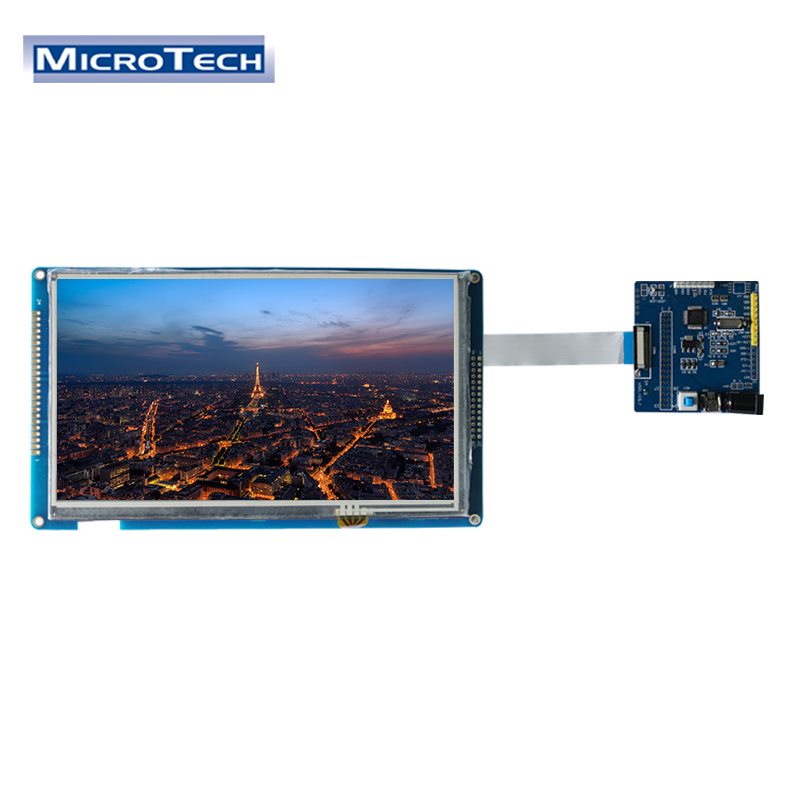 """7"""" 800x480 MCU Interface TFT LCD Module with Driver Board for Medical Imaging Equipment"""