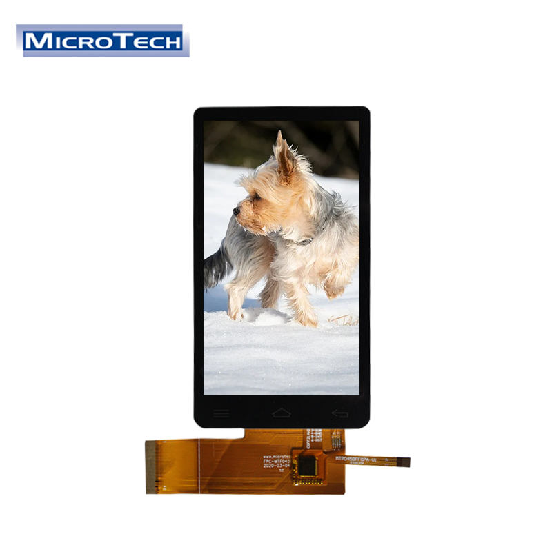 4.5 inch 480x854 IPS TFT All View LCM with 10 Points Capacitive Touch Panel RGB & IIC Interface