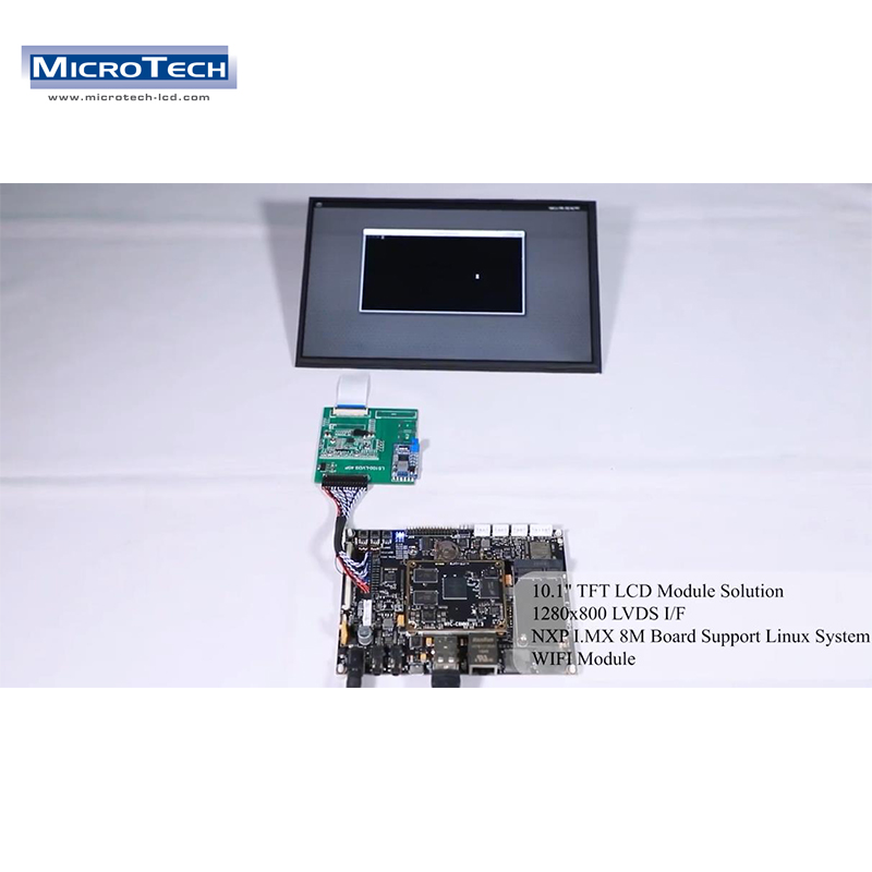 10.1inch 1280x800 Screen with Grade Linux, Android System i.MX 8M Cortex-A53 Powerful Industrial Application Motherboard Solution